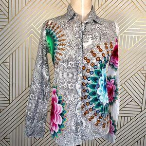Desigual EDI Long Sleeve Printed Button Down Shirt
